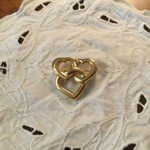Jewelry - Triple heart pin, gold tone